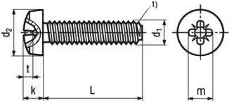 Винт 7500 C (7500C) - размеры, характеристики.
