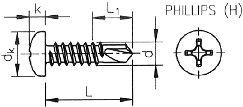 Саморез, шуруп DIN 7504 N (DIN 7504N) - размеры, характеристики.