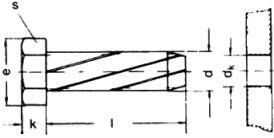 Винт DIN 7513 A - размеры, характеристики.
