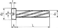 Винт DIN 7513 B (DIN 7513B) - размеры, характеристики.