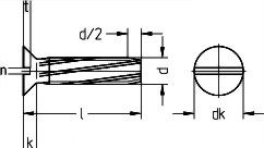 Винт DIN 7513 F (DIN 7513F) - характеристики, размеры.