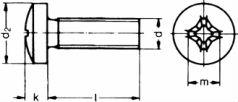 Самонарезающий винт DIN 7516 A (DIN 7516A) - размеры, характеристики.