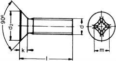 DIN 7516-D — винт самонарезающий с потайной головкой.