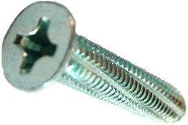 DIN 7516 D — винт самонарезающий с потайной головкой с крестообразным шлицем Phillips