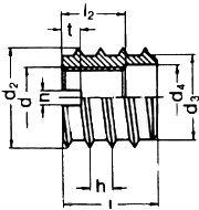 DIN 7965 — муфта мебельная врезная резьбовая.