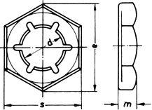 Гайка DIN 7967 - размеры, характеристики.