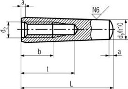 Штифт DIN 7978 - размеры, характеристики.