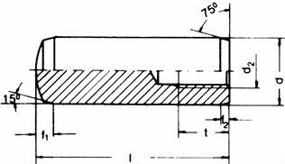 DIN 7979 — цилиндрический штифт с внутренней резьбой.