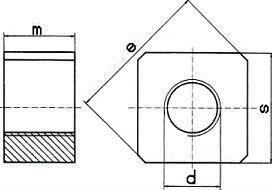 DIN 798 — гайка квадратная анкерная.