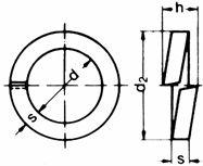 DIN 7980 — шайба пружинная самоконтрящаяся.