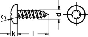 Шуруп DIN 7981, шлиц Torx - размеры, характеристики.