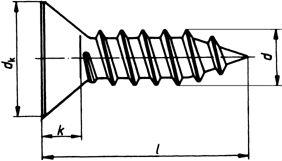 Шуруп DIN 7982, шлиц Philips - размеры, характеристики.