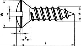 Шуруп DIN 7983, шлиц Philips - размеры, характеристики.