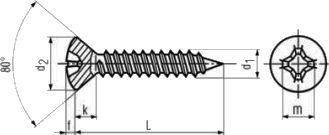 Шуруп DIN 7983, шлиц Pozi - размеры, характеристики.