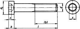 Болт винт DIN 7984, шлиц шестигранник - размеры, характеристики.