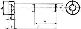 Винт болт DIN 7984, шлиц Torx - размеры, характеристики.