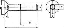 Винт DIN 7991,с внутренним шестигранником - размеры, характеристики.