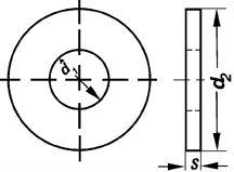 Схема размеров шайбы DIN 9021