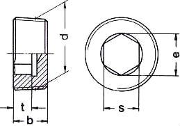 DIN 906 — резьбовая пробка с внутренним шестигранником.