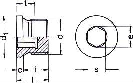 DIN 908 — резьбовая пробка с фланцем.