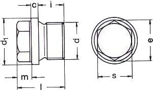 DIN 910 — резьбовая пробка с шестигранной головкой и фланцем.