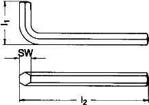 DIN 911 — ключ шестигранный L-образный.