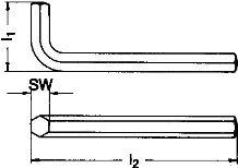 Ключ шестигранник DIN 911 - размеры, характеристики.