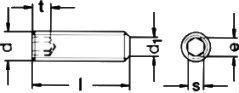 DIN 913 — винт установочный с внутренним шестигранником.