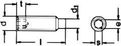 Установочный винт с цапфой DIN 915 - размеры, характеристики.
