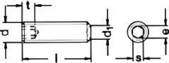 DIN 916 — винт установочный с внутренним шестигранником.