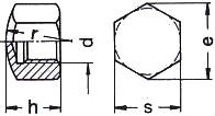 DIN 917 — гайка колпачковая, низкая, глухая.