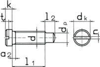 DIN 921 — винт с прямым шлицем и маленькой плоской цилиндрической головкой.