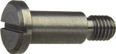 DIN 923 — винт с уменьшенной плоской головкой с прямым шлицем с резьбовой цапфой.
