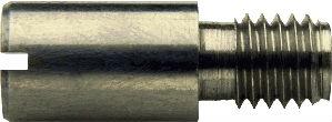 DIN 927 — винт цилиндрический с прямым шлицем и резьбовой цапфой.
