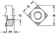 DIN 928 — гайка приварная квадратная.