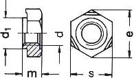 DIN 929 — гайка приварная шестигранная.