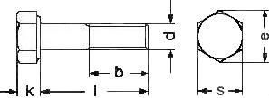 DIN 931 — болт с шестигранной головкой и неполной резьбой.