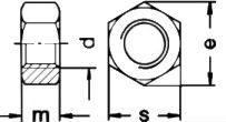 DIN 934 — гайка шестигранная под ключ.