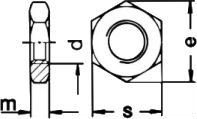 DIN 936 — гайка низкая, шестигранная.