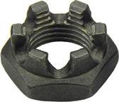 DIN 937 — гайка корончатая низкая прорезная тонкая.