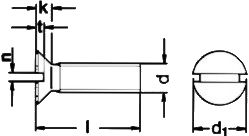 Винт DIN 963 - размеры, характеристики.