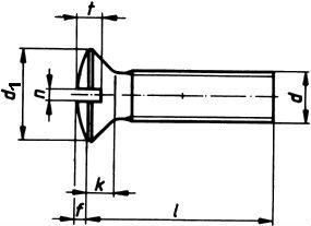 Винт DIN 964 - размеры, характеристики.
