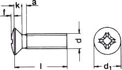 Винт DIN 966 - характеристики, размеры.