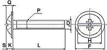 Размерная схема винтов DIN 967
