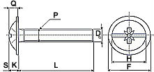 Винт DIN 967 - размеры, характеристики.