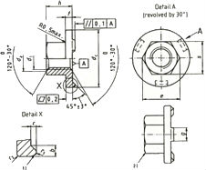 DIN 976 — гайка фланцевая приварная.