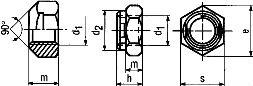 Гайка DIN 980 - размеры, характеристики.