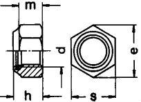 Гайка DIN 982 - размеры, характеристики.