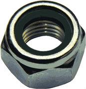 DIN 982 — гайка со стопорным нейлоновым кольцом.