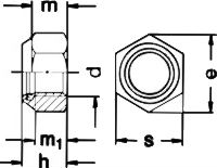 Гайка DIN 985 - размеры, характеристики.